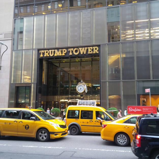 Trump Tower, Taxis, Gelb (Bild: bestevent.at) (13.12.2014)