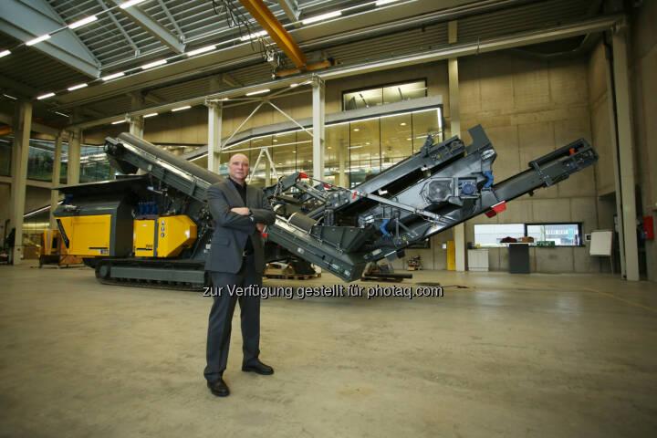 Gerald Hanisch (CEO Rubble Master) - Bei einer Exportquote von 92% im Geschäftsjahr 2014 konnte der Linzer Betrieb einen Gesamtumsatz von 40 Millionen Euro erwirtschaften. Damit steigerte sich der Umsatz um 3% gegenüber dem Vorjahr. (Bild: RM)