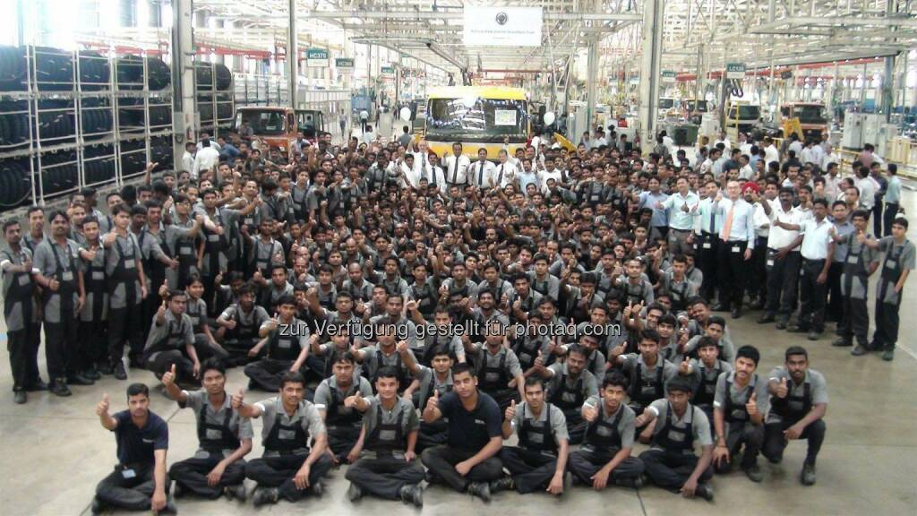 Daimler Trucks India: Produktionsjubiläum bei Daimler Trucks in Indien: 20.000 Lkw produziert, © Aussendung (19.12.2014)