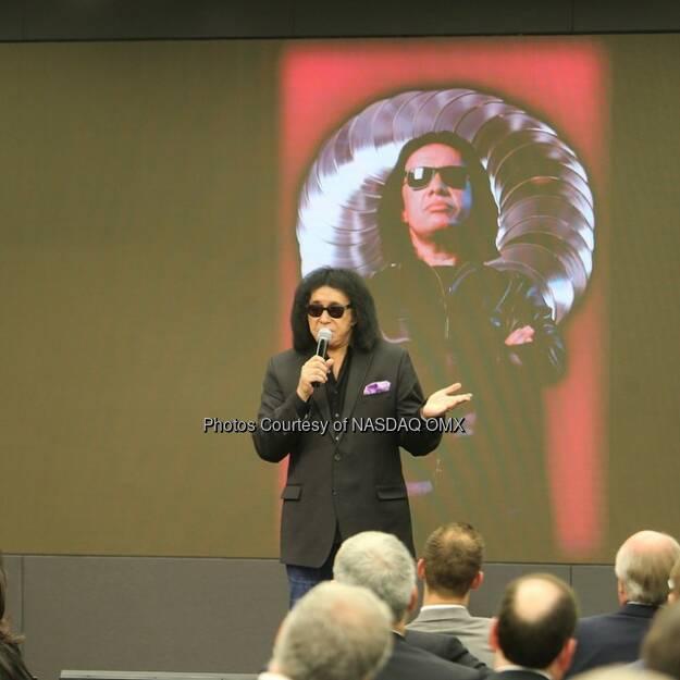 We had #GeneSimmons here at @Nasdaq today! #kiss #Bandkiss #rockandroll  Source: http://facebook.com/NASDAQ (19.12.2014)