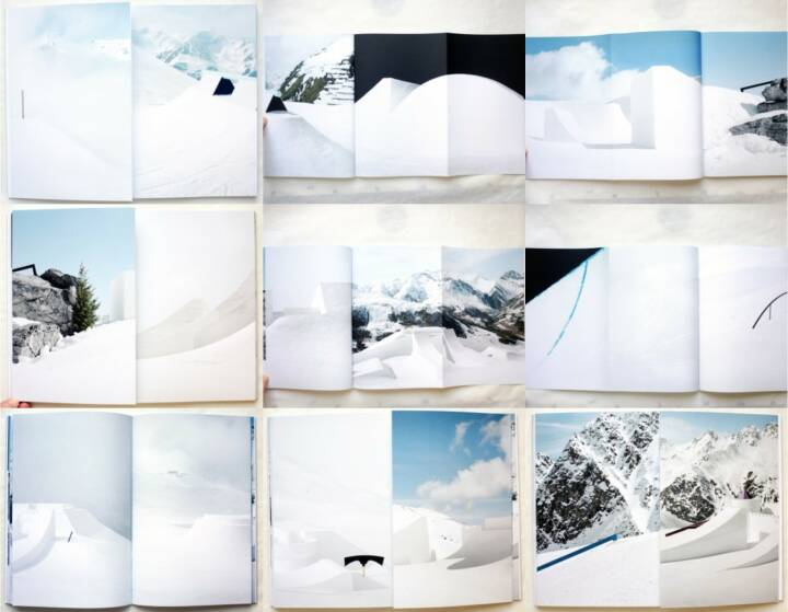 Philippe Fragnière - Snowpark, Kodoji Press 2014, Beispielseiten, sample spreads - http://josefchladek.com/book/philippe_fragniere_-_snowpark