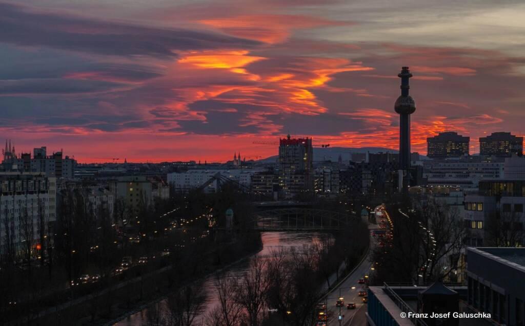 Blick auf den Alsergrund, Homebase des Börse Social Network, © Franz Josef Galuschka (23.12.2014)