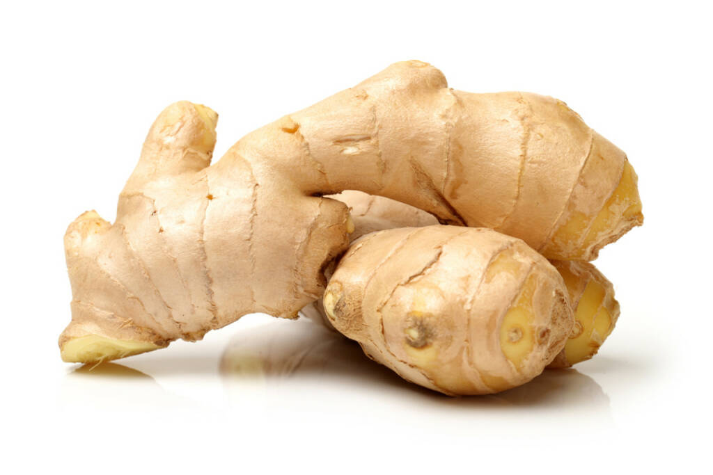 Ingwer, Superfruit, http://www.shutterstock.com/de/pic-174627050/stock-photo-fresh-ginger-on-white-background.html, © www.shutterstock.com (24.12.2014)