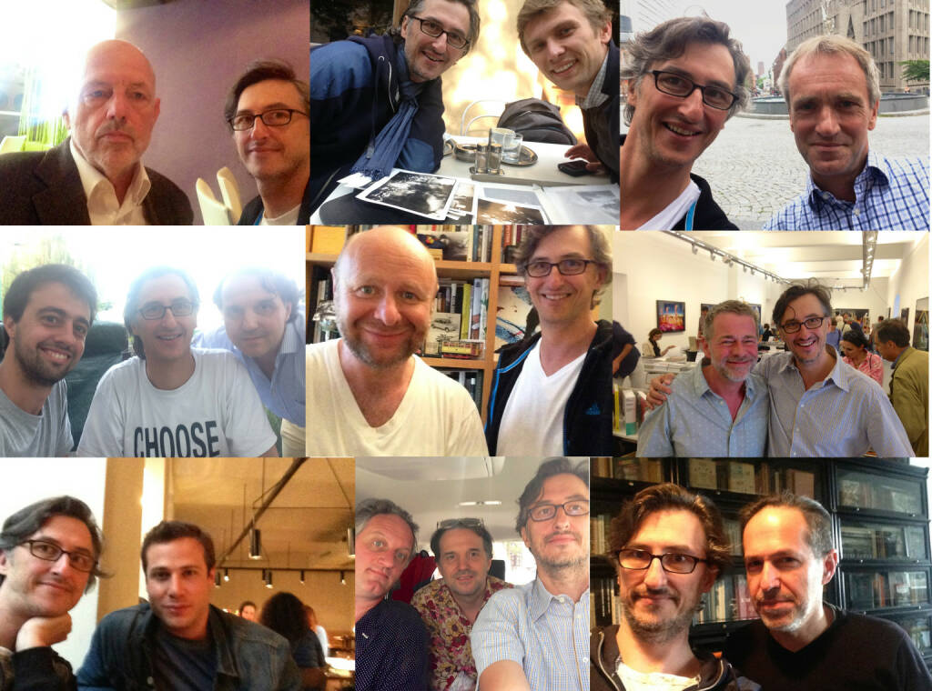 Josef Chladek meeting artists and publishers: Leo Kandl, Sergiy Lebedynskyy, Nicholas McLean,  Tiago Casanova, Helfried Valenta, Morten Andersen, Klaus Kehrer, Renato D'Agostin, Erik Kessels, Andreas Bitesnich (25.12.2014)