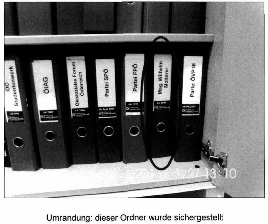 Kurt Kuch: Ordner, die bei Ludwig Scharinger in der RLB OÖ gefunden wurden (26.12.2014)