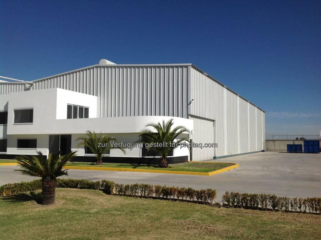 Mitte Jänner wird der dritte mexikanische Standort von Aceros Bohler Uddeholm in Puebla offiziell eröffnet: http://bit.ly/1A40t5A  Source: http://facebook.com/voestalpine, © Aussender (29.12.2014)