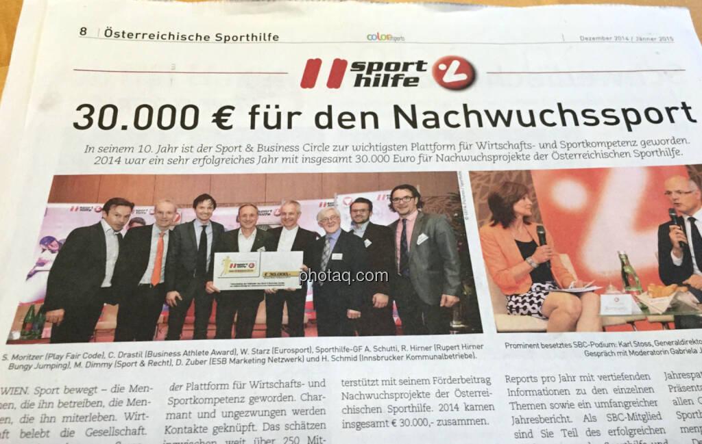 30.000 Euro für den Nachwuchssport, Runplugged dabei (31.12.2014)