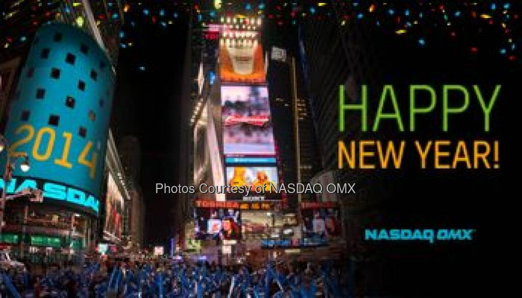 Here's a favorite post of ours from the past: Happy New Year! Wishing everyone a wonderful 2014 from NASDAQ OMX! #dreamBig #ThrowbackThursday powered by https://sumall.com/facebook  Source: http://facebook.com/NASDAQ (02.01.2015)