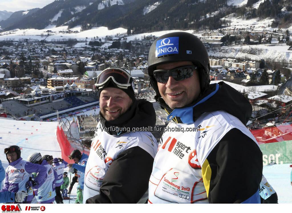 Kjetil Andre Aamodt und Stephan Eberharter. Foto: GEPA pictures/ Hans Simonlehner, © GEPA/Sporthilfe (10.02.2013)