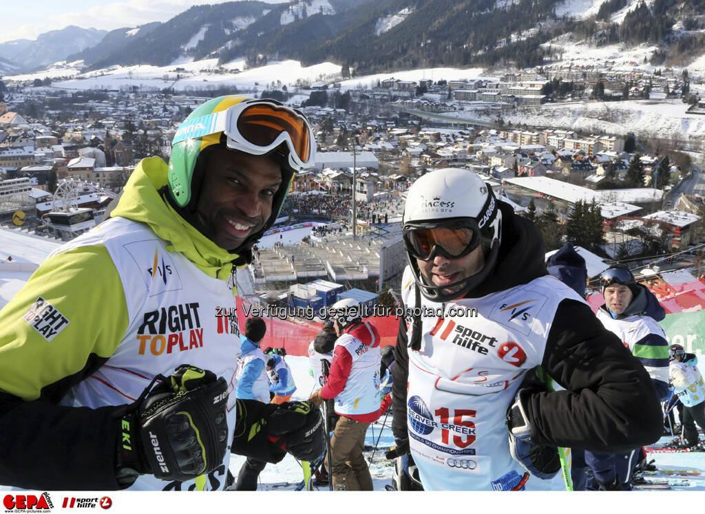 Mike Williamson und Hubertus von Hohenlohe. Foto: GEPA pictures/ Hans Simonlehner, © GEPA/Sporthilfe (10.02.2013)