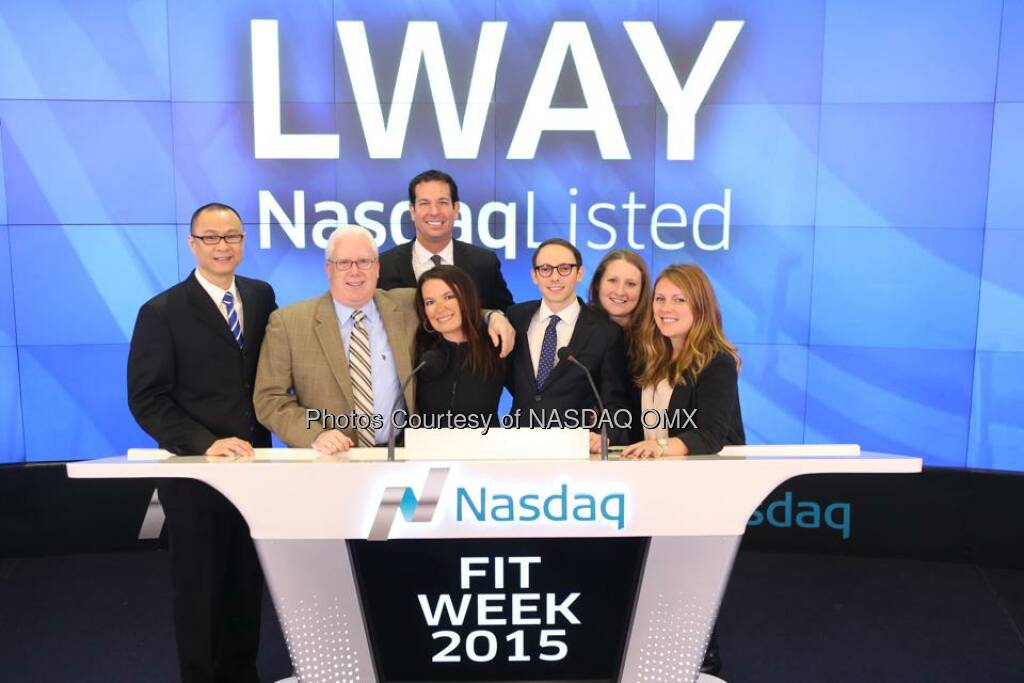 Lifeway Kefir rang the Nasdaq Opening Bell! $LWAY  Source: http://facebook.com/NASDAQ (06.01.2015)