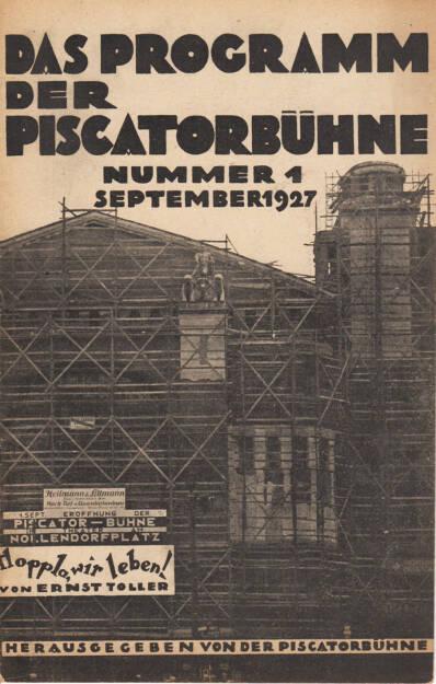 Blätter der Piscatorbühne - Das Programm der Piscatorbühne (Nummer 1 September 1927), Bepa-Verlag 1927, Cover -http://josefchladek.com/book/blatter_der_piscatorbuhne_-_das_programm_der_piscatorbuhne_nummer_1_september_1927, © (c) josefchladek.com (07.01.2015)