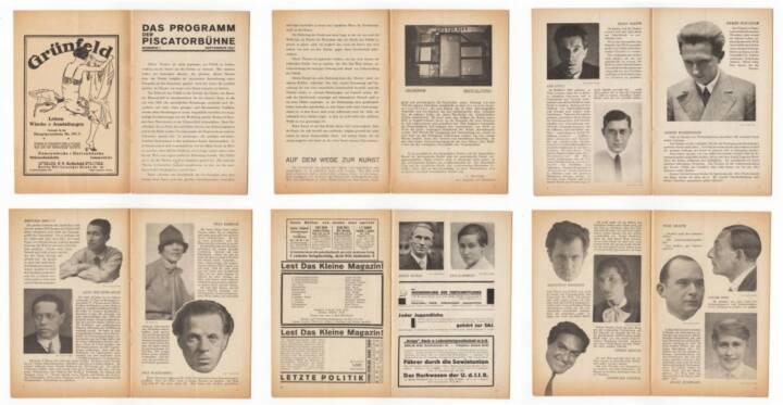 Blätter der Piscatorbühne - Das Programm der Piscatorbühne (Nummer 1 September 1927), Bepa-Verlag 1927, Beispielseiten, sample spreads -http://josefchladek.com/book/blatter_der_piscatorbuhne_-_das_programm_der_piscatorbuhne_nummer_1_september_1927