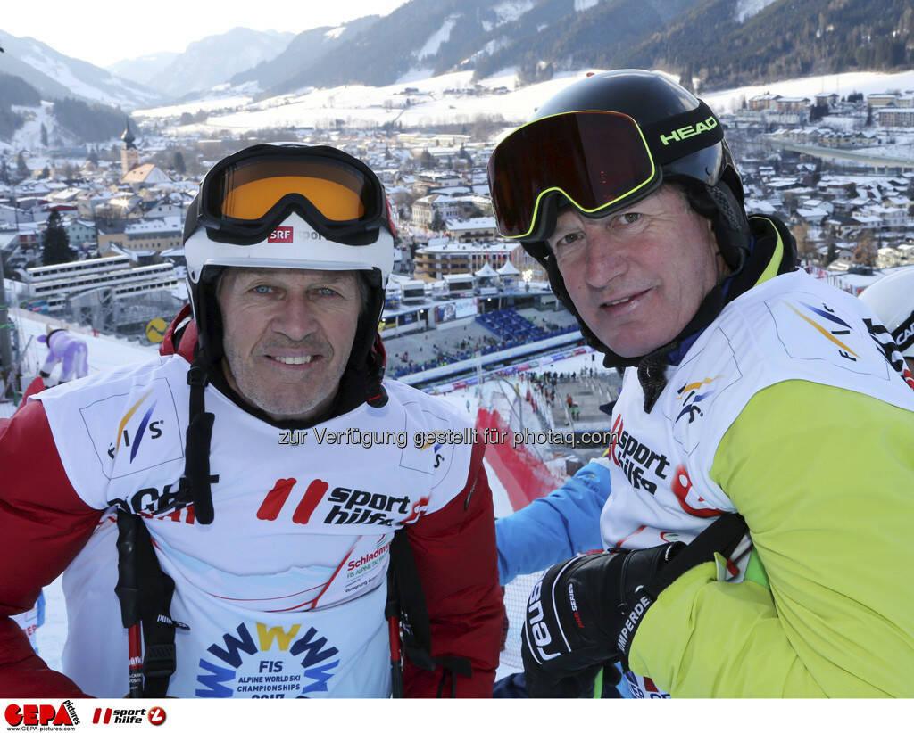 Bernhard Russi und Franz Klammer. Foto: GEPA pictures/ Hans Simonlehner, © GEPA/Sporthilfe (10.02.2013)