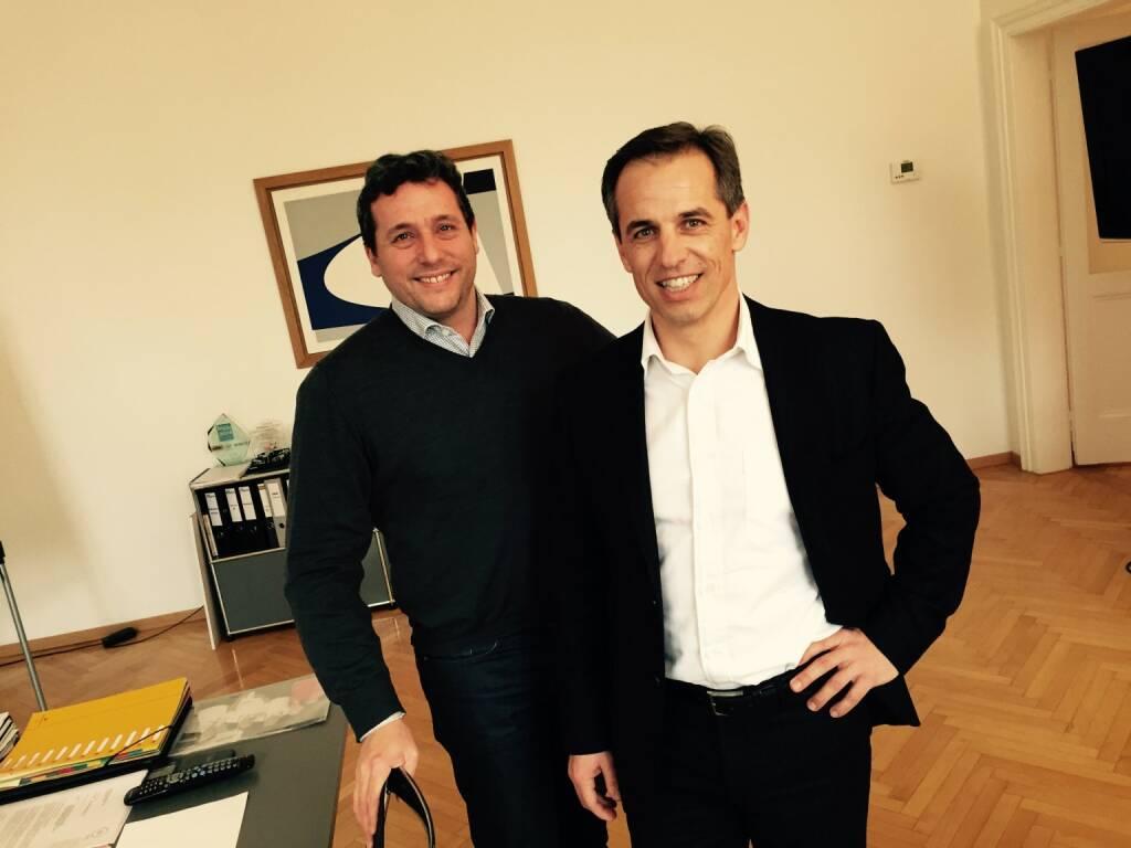 Im Sport- & Wirtschaftsplausch mit Rene Berger und Harald Sommerer (09.01.2015)