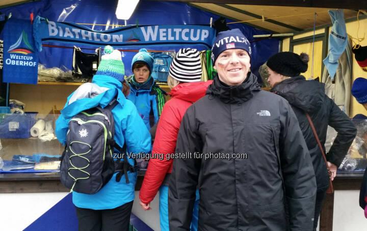 Christian-Hendrik Knappe (Deutsche Bank) beim Biathlon in Oberhof