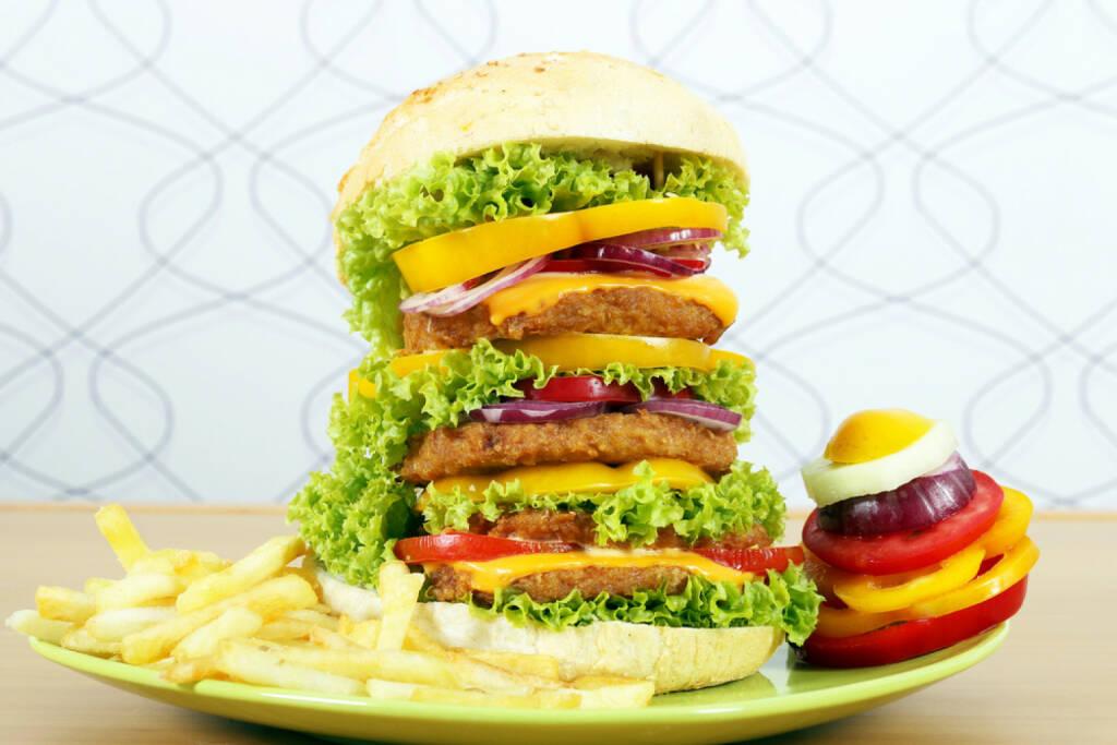 Burger, Hamburger, XXL, groß, gross, Grösse, Größe, supersize, Riesenburger, © www.shutterstock.com (12.01.2015)
