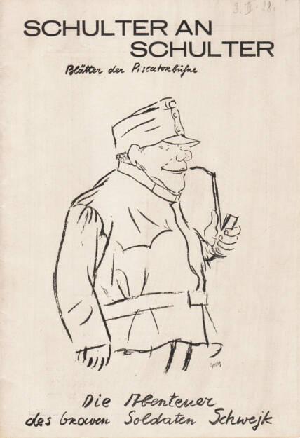 Blätter der Piscatorbühne - Schulter an Schulter, Bepa-Verlag 1928, Cover - http://josefchladek.com/book/blatter_der_piscatorbuhne_-_schulter_an_schulter, © (c) josefchladek.com (13.01.2015)