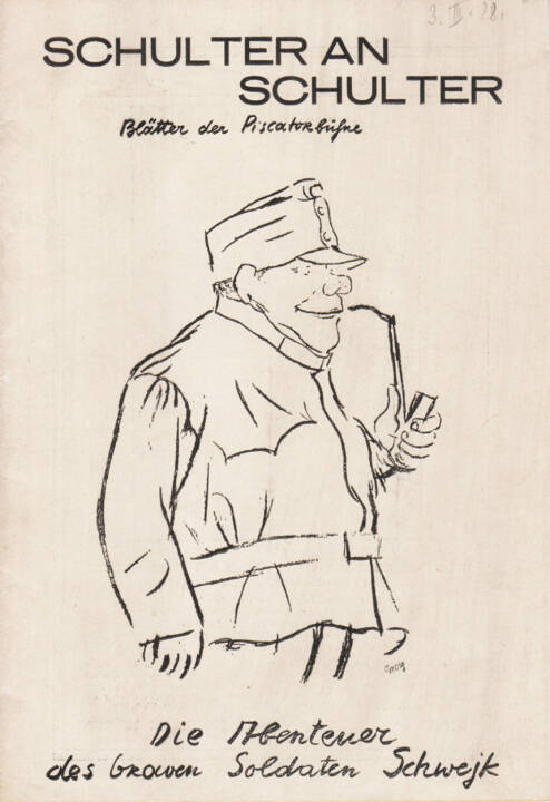Blätter der Piscatorbühne - Schulter an Schulter, Bepa-Verlag 1928, Cover - http://josefchladek.com/book/blatter_der_piscatorbuhne_-_schulter_an_schulter