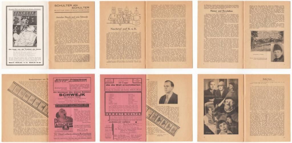 Blätter der Piscatorbühne - Schulter an Schulter, Bepa-Verlag 1928, Beispielseiten, sample spreads - http://josefchladek.com/book/blatter_der_piscatorbuhne_-_schulter_an_schulter, © (c) josefchladek.com (13.01.2015)