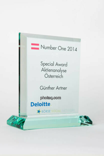 Special Award Aktienanalyse Österreich: Günther Artner, © photaq/Martina Draper (13.01.2015)