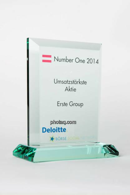 Umsatzstärkste Aktie: Erste Group, © photaq/Martina Draper (13.01.2015)