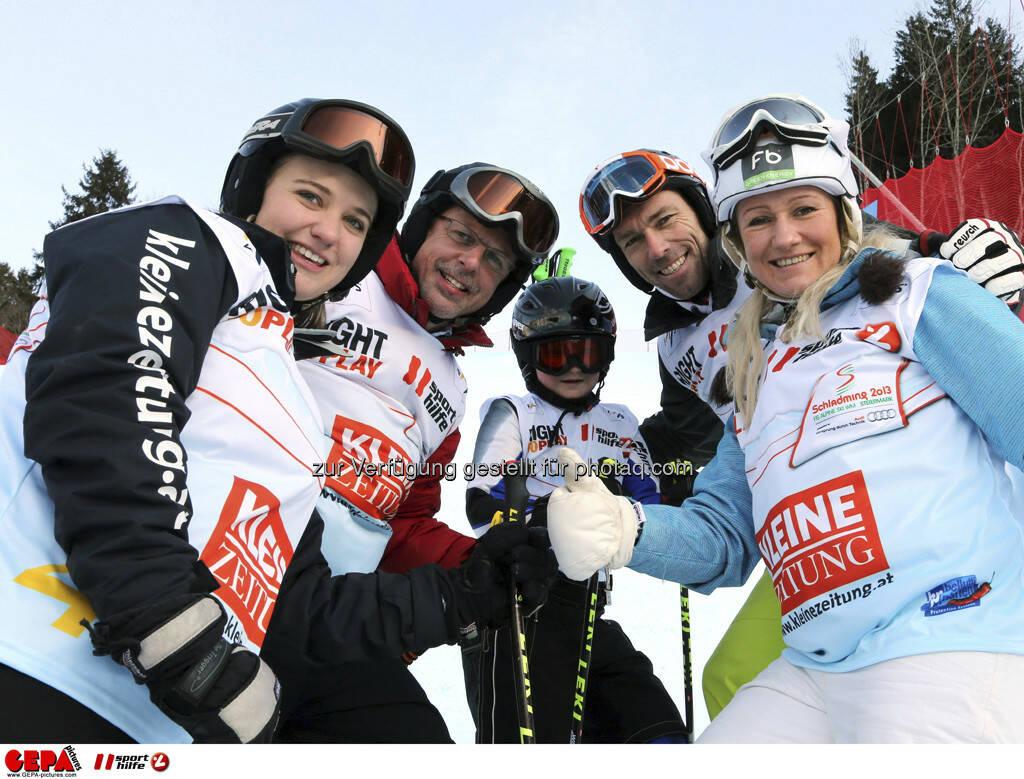 Kathrin Lemsitzer, Klaus Pekarek, Matthias Baier, Michael Kummerer und Renate Goetschl. Foto: GEPA pictures/ Hans Simonlehner, © GEPA/Sporthilfe (10.02.2013)