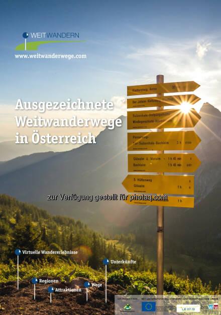 Weitwandern - Österreichs Wanderdörfer: Die neue  Weitwandern-Broschüre bestellen & Urlaub gewinnen!, © Aussender (14.01.2015)