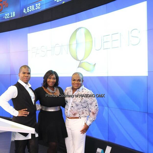 Bravo TV's Fashion Queens ring the @Nasdaq Opening Bell! @BravoFQ @bevysmith @Derekjhair @lawrenceatl @Bravotv  #Fashion #FashionQueens  Source: http://facebook.com/NASDAQ (15.01.2015)