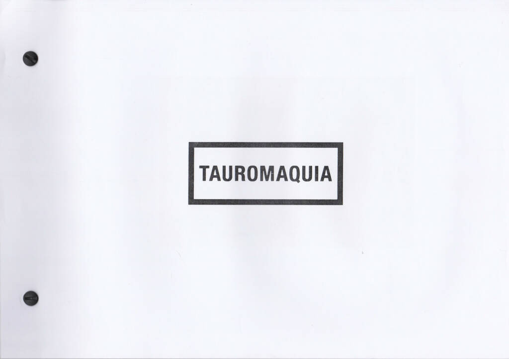 Julián Barón - Tauromaquia, Self published 2014, Cover - http://josefchladek.com/book/julian_baron_-_tauromaquia, © (c) josefchladek.com (16.01.2015)