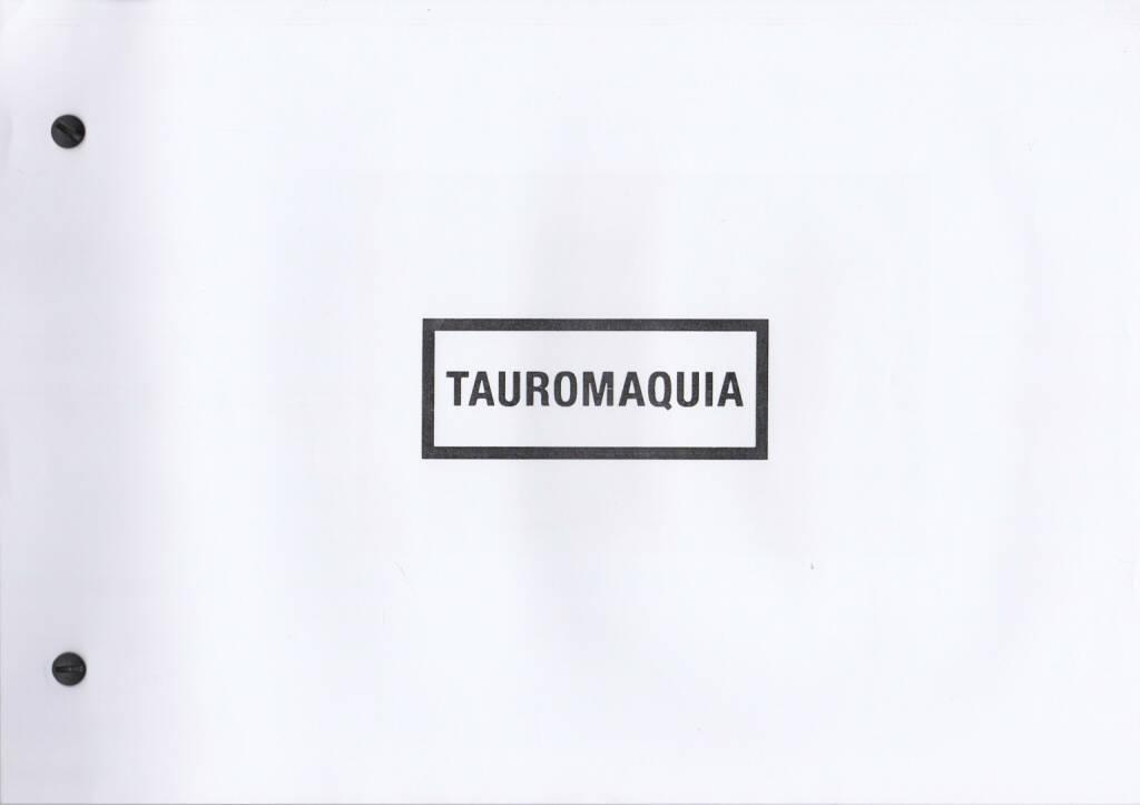 Julián Barón - Tauromaquia, Self published 2014, Cover - http://josefchladek.com/book/julian_baron_-_tauromaquia, © (c) josefchladek.com (16.01.2015)