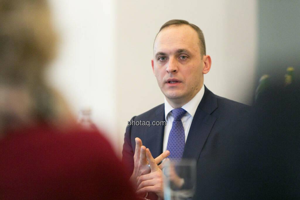 Thomas Wulf, den Generalsekretär des europäischen Dachverbandes für strukturierte Produkte EUSIPA, © photaq/Martina Draper (17.01.2015)