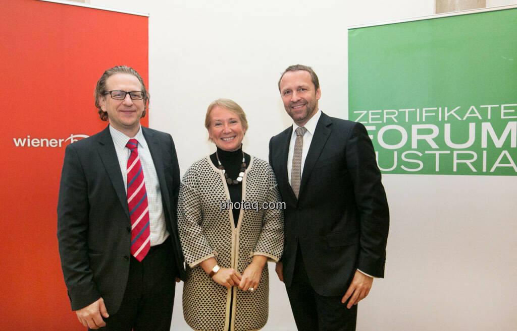 ZFA Vorstand: Markus Kaller (Erste Group), Heike Arbter (RCB), Frank Weingarts (UniCredit), © photaq/Martina Draper (17.01.2015)