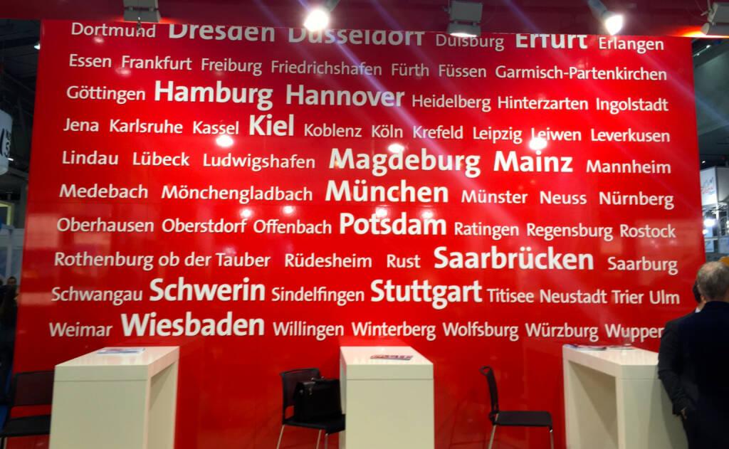 Dresden Düsseldorf Erfurt Hamburg Hannover Kiel Magdeburg Mainz München Potsdam Saarbrücken Schwerin Stuttgart Wiesbaden (19.01.2015)