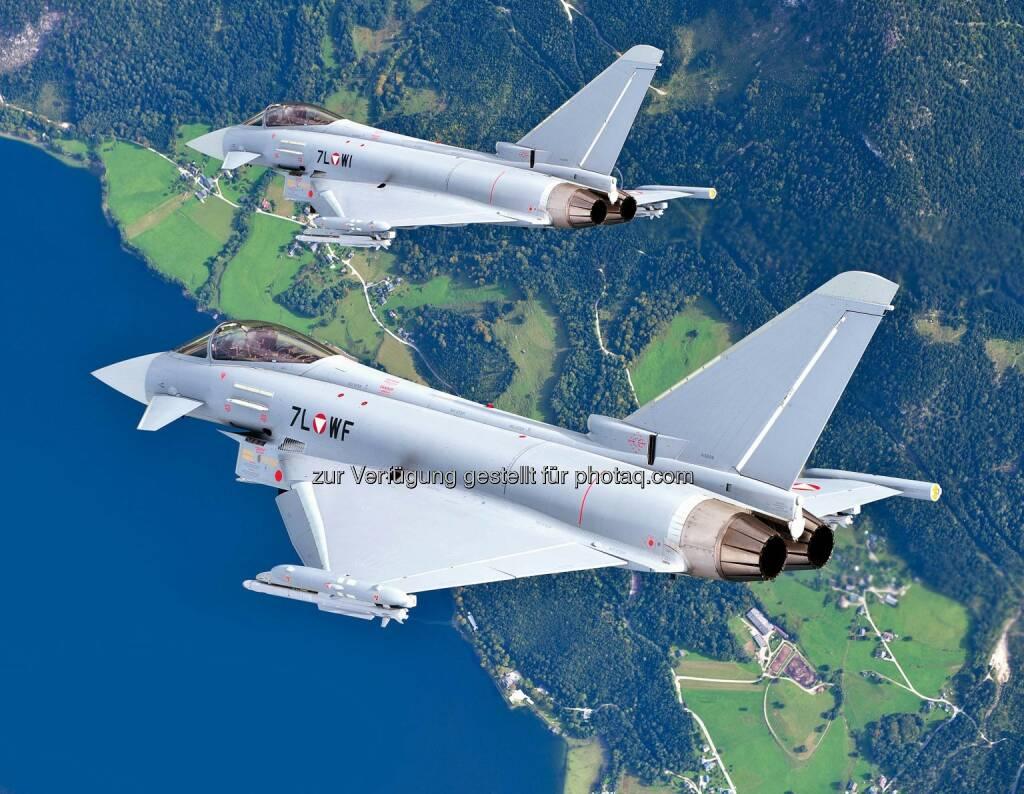 Eurofighter Jagdflugzeug GmbH: Eurofighter sichern Luftraum während des Weltwirtschaftsforums 2015 in Davos, © Aussendung (19.01.2015)
