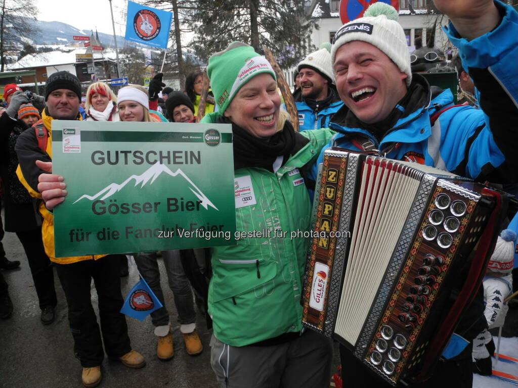 Die Innerhofer-Fans setzen sich gegen die Fanclubs von Kröll, Reichelt und Franz durch - http://voestalpine-wm-blog.at/2013/02/11/christof-innerhofer-hat-die-besten-fans/#.URjz_o7aK_Q, &copy; <a href=