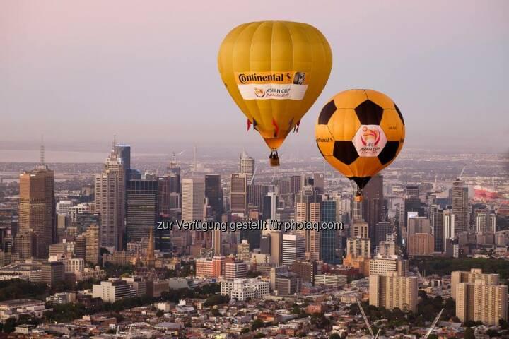 NEWS // #Continental in schwindeligen Höhen. Gesehen beim AFC Asien Cup 2015.  Source: http://facebook.com/Continental.Reifen