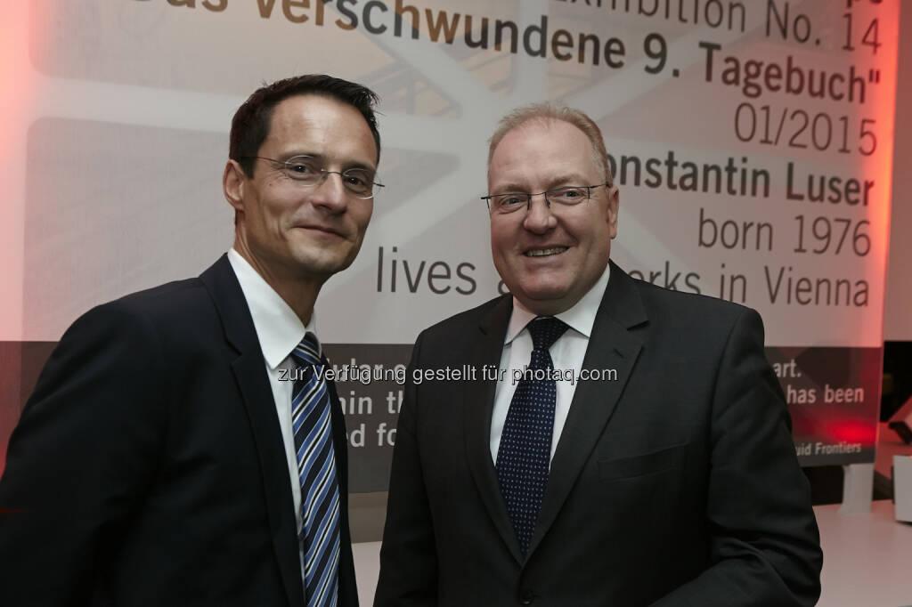 Accenture Managing Director Daniel Baur mit Helmut Bernkopf, Vorstand UniCredit Bank Austria, © Accenture (21.01.2015)