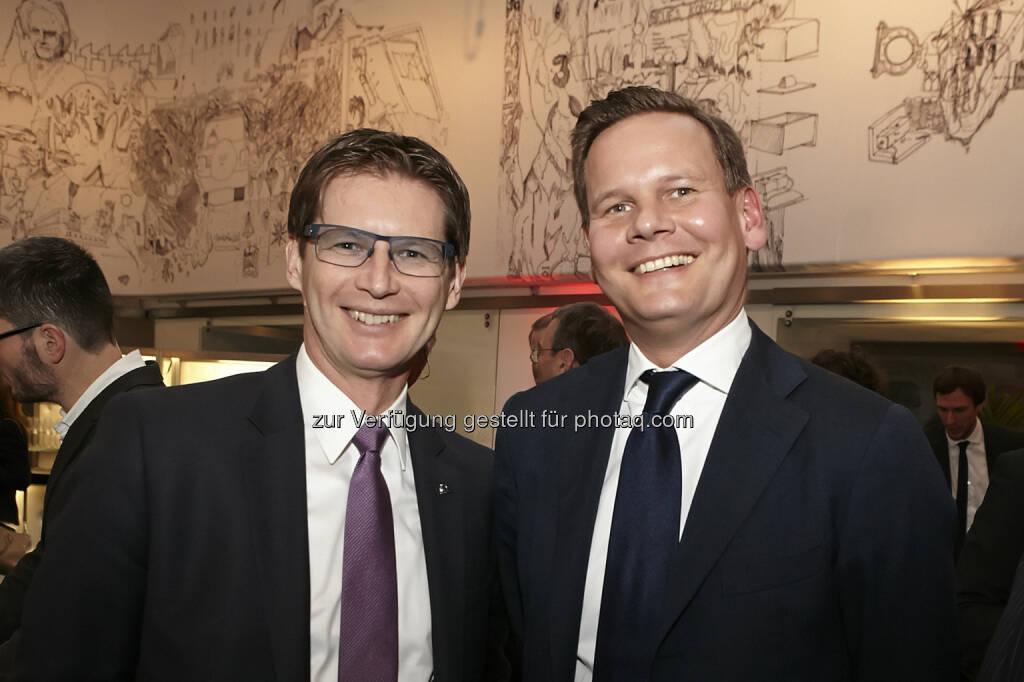 Andreas Kößl, Vorstand Uniqa mit Thomas Schönbauer, Accenture, © Accenture (21.01.2015)