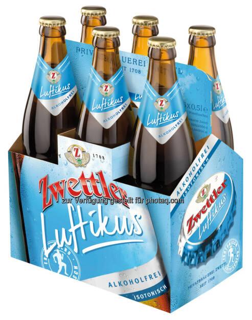 """wettler alkoholfrei! """"Luftikus"""" ab März im Handel und in der Gastronomie verfügbar: Privatbrauerei Zwettl wirtschaftet 2014 erfolgreich, © Aussender (21.01.2015)"""