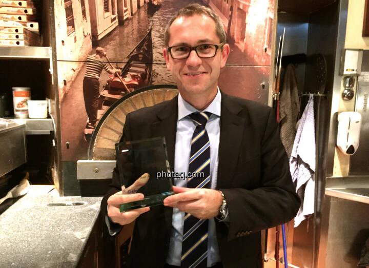 Günther Artner mit dem Number One Award
