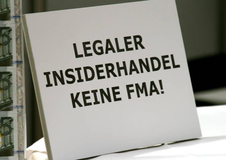 Insiderhandel Insider FMA