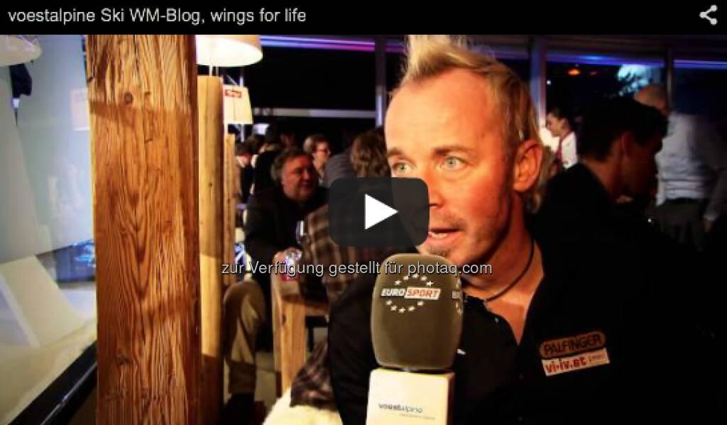 """Die Stiftung """"Wings for Life"""" beschäftigt sich mit Rückenmarkforschung. Um weiter für die Heilung von Querschnittslähmung zu kämpfen, benötigt die Stiftung Spendengelder. Aus diesem Grund veranstaltete der Tirol Berg einen Gala-Abend, bei dem ein Scheck in der Höhe von 50.000 Euro überreicht wurde. Wir haben uns mit der Geschäftsführerin und weiteren Unterstützer unterhalten. http://voestalpine-wm-blog.at/2013/02/10/querschnittslahmung-muss-heilbar-werden/#.URk7PI7aK_Q, &copy; <a href="""