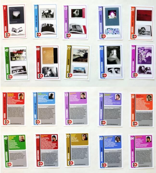 10x10 Japanese Photobooks Trading Cards - Set #1, 10x10 Photobooks / ICP 2014, Cards, http://josefchladek.com/book/10x10_japanese_photobooks_trading_cards_-_set_1