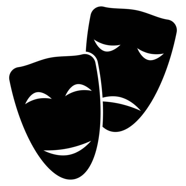 Gegenteil, lachen, weinen, Freude, Trauer, http://www.shutterstock.com/de/pic-240930859/stock-vector-facial-mask-symbol.html, © www.shutterstock.com (25.01.2015)