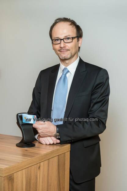 Rainer Schamberger (CEO Payment Services Austria): Schallmauer durchbrochen - 9 Mio. Bankomatkarten in Österreich (Bild: Johannes Ehn), © Aussendung (26.01.2015)
