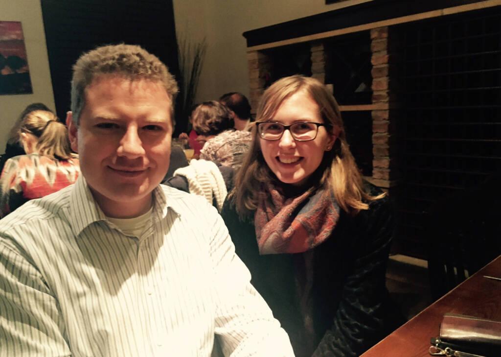 Mit Karoline Lutz und Patrick Weninger beim Deloitte Sport Talk im Pasta e Basta (27.01.2015)