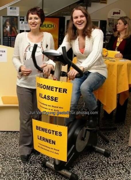 Ergometerklasse, Sport in der VBS Floridsdorf, siehe http://www.christian-drastil.com/2013/02/13/vbs-floridsdorf-borseklasse-ergometerklasse-gelebte-vielfalt/, © VBS Floridsdorf (13.02.2013)