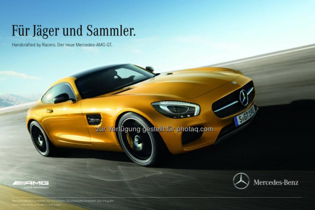 """Mercedes-AMG GT """"Mercedes-AMG GT - Handcrafted by Racers"""": Unter dem Claim """"Handcrafted by Racers"""" startet die Kampagne des Mercedes-AMG GT ihren Angriff auf die Herzen der Sportwagen-Enthusiasten., © Aussendung (30.01.2015)"""