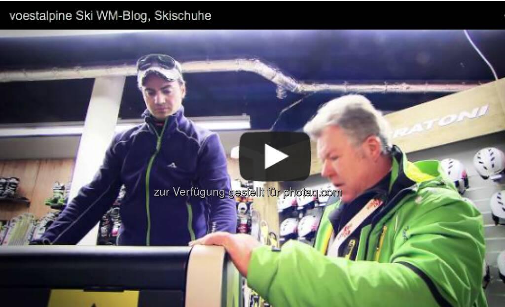 Der beste Ski nützt einem nichts, wenn der Skischuh schlecht sitzt. Wie wichtig ein perfekt angepasster Skischuh wirklich ist und welche Innovation es dazu aus dem Hause Fischer gibt, erklären uns der ehemalige Skirennläufer Stephan Görgl und Alois Pieber, Forschungs- und Entwicklungsleiter bei Fischer Sports http://voestalpine-wm-blog.at/2013/02/13/stephan-gorgl-und-der-perfekte-skischuh/#.URtru47aK_Q  , &copy; <a href=